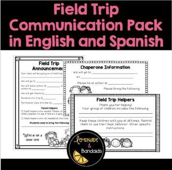 Field trip parent letter teaching resources teachers pay teachers field trip communication pack english and spanish maxwellsz