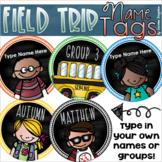Field Trip Editable Student Name Tags Generic Boy Girl School Bus