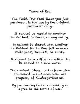 Field Trip Fact Sheet