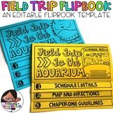 Field Trip Flipbook (Editable No Cut Editable Flip book)