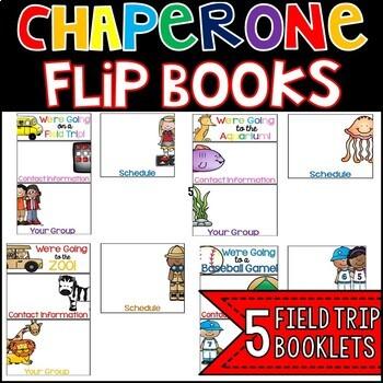 Field Trip Chaperone Flip Books
