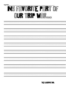 Field Trip Follow Up Packet