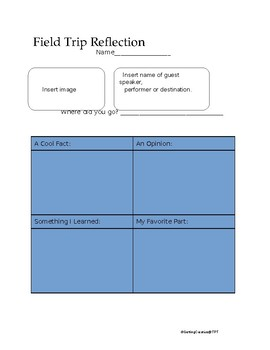 Field Trip Follow-up Worksheet