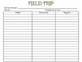 Field Trip Form