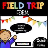 EDITABLE Field Trip Form/Checklist-Class List