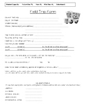 Field Trip Form Elementary