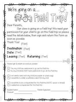 Field Trip Forms And More