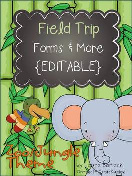 Field Trip Forms Amp More Zoo Jungle Theme Editable Tpt