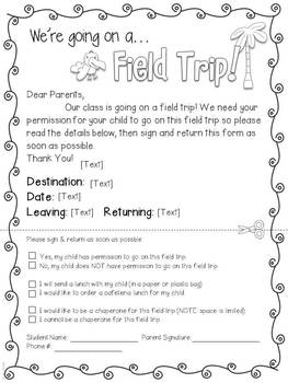 Field Trip Forms & More - ZOO/JUNGLE Theme {EDITABLE}