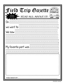 We're Going on a Field Trip - Activities and Editable Forms