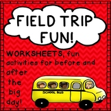 Field Trip Worksheets Activities Printables Before and Aft