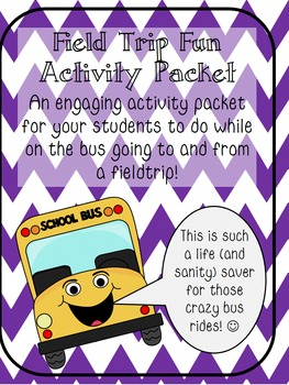Field Trip Fun Activity Packet