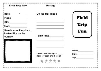 Field Trip Fun Trifold
