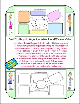 Field Trip Graphic Organizer Packet Review Reinforcement R