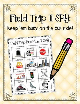 Field Trip I SPY: Keep 'em busy on the bus!