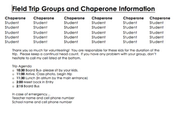 Field Trip Groups!