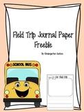 Field Trip Journal Page - Freebie
