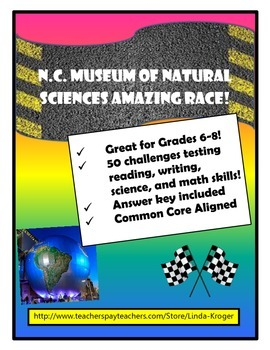Field Trip Kit! North Carolina Museum of Natural Sciences Amazing Race!