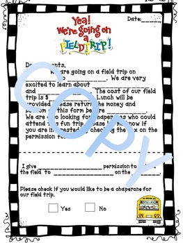 Field Trip Letter By Brittany Lezu Teachers Pay Teachers