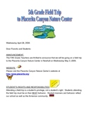 Field Trip Letter for Placerita Canyon Nature Center