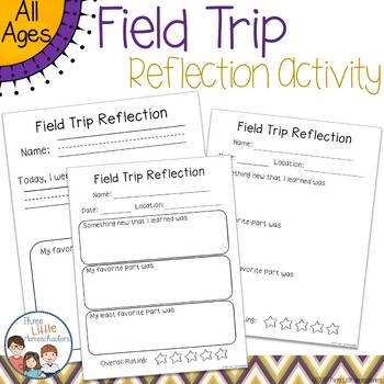 Field Trip Log and Reflection Writing Activity Freebie