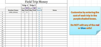 Field Trip Money and Permission Slip Collection