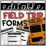 Field Trip Necessities | EDITABLE