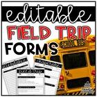 Field Trip Necessities   EDITABLE