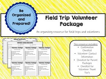 Field Trip Organization Package - Editable Digital Form + Printable