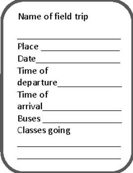 Field Trip Organizer
