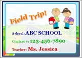 Field Trip Pack (Personalized)