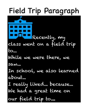 Field Trip Paragraph Poster
