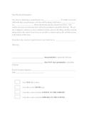 Field Trip Permission Form A