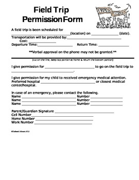 permision forms