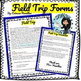 EDITABLE Field Trip Permission Slip & Reminder Note