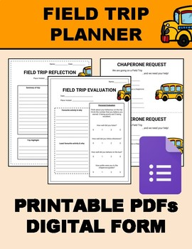 Field Trip Planner (Editable on Google Forms)