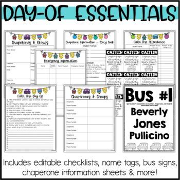 Field Trip Permission Slips & Planning Pack