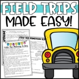Field Trip Forms, Editable Permission Slips & Planning Pack