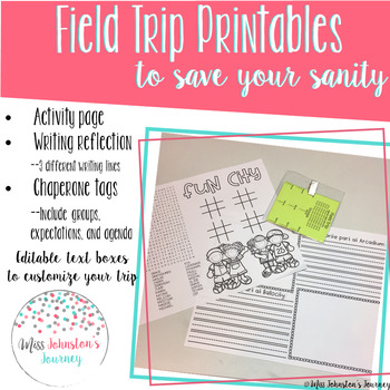 Field Trip Printables to Save Your Sanity