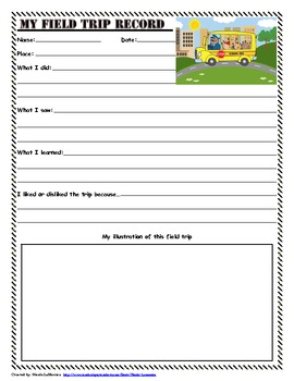 Field Trip Record: Assessment Tool