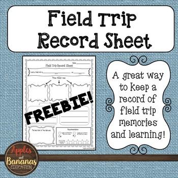 Field Trip Record Sheet