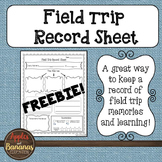 Field Trip Record Sheet