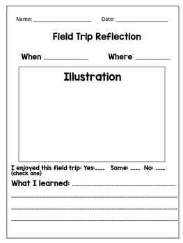 Field Trip Reflection Forms