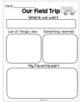 Field Trip Reflection {Freebie}