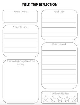 Field Trip Reflection Sheet
