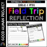 Field Trip Reflection Writing Activity   Digital & Print   K-3    Editable