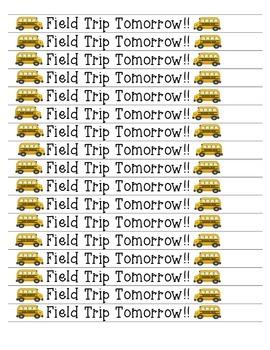 Field Trip Reminder Bracelets