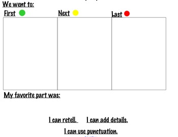 Field Trip Report Anchor Chart & Independent work