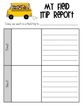 field trip report freebie by the teaching fix teachers pay teachers. Black Bedroom Furniture Sets. Home Design Ideas
