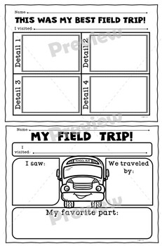 Field Trip Report Forms Set